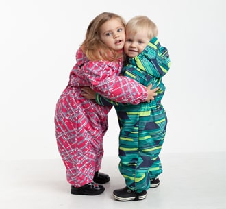 Зимові суцільні комбінезони для дівчат